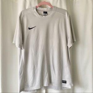 Nike Dri Fit silver gray athletic tee men's XL